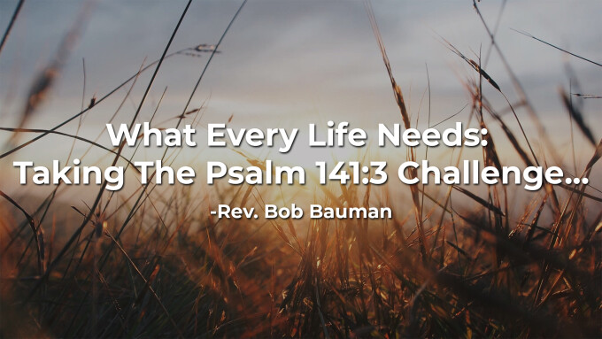 What Every Life Needs: Taking The Psalm 141:3 Challenge...